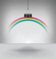 Clip Rainbow vector image vector image