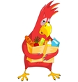 Funny Parrot Shopping vector image vector image