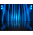 Curtained Stage vector image vector image