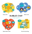 Bubbles Chat Linear Compositions vector image