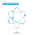 Atom Infographics vector image