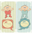 baby postcard vector image