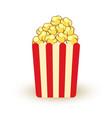 carton bowl full of popcorn icon vector image