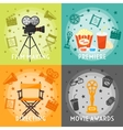 From Film Making To Awards Concept vector image