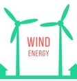 green energy with two wind motors vector image