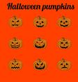 Halloween pumpkins vector image