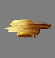 hand drawing gold brush stroke paint vector image