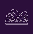 minimalist sydney logo in line style abstract vector image