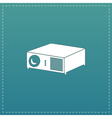 Projector sign icon vector image