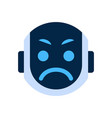 robot face icon angry face emotion robotic emoji vector image