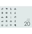 Set of Kuwait icons vector image