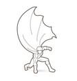 strong man superhero landing action graphic vector image