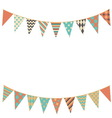 Party bunting background in flat style vector image