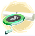 tap and plan paper vector image vector image