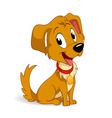 cute cartoon vector puppy dog vector image