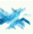Abstract background with blue stripes corner vector image