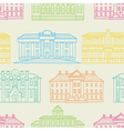 House pattern color vector image