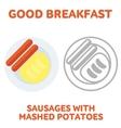 breakfast 1205 elements 01 vector image