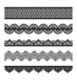 Seamless lace set vector image vector image
