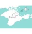 Autonomous Republic of Crimea postcard design vector image