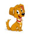 Cute cartoon vector puppy dog vector image