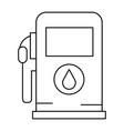 gas station pump icon vector image