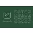 Set of mammals simple icons vector image