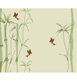 card with bamboo vector image vector image