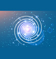swirl spiral like galaxy with stasrs vector image