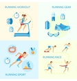Running icons composition vector image