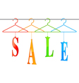 Sale hangers vector image