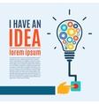 I have an idea creative conceptual background vector image