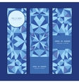 blue triangle texture vertical banners set pattern vector image