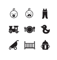 New born baby icons vector image