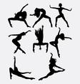 Beautiful dancer performing silhouette vector image vector image