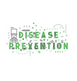 Medicine concept design disease prevention vector image