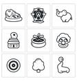 Amusement icons vector image
