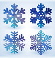 blue cristal snowflakes vector image