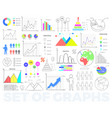 bright charts and round diagrams set vector image
