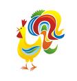 Cock cartoon vector image