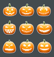 Halloween pumpkin lanterns vector image