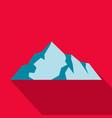 ice mountain icon flat style vector image