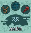 zodiac flat concept icons vector image