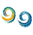 Colourful ocean waves vector image vector image
