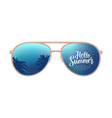 aviator modern sunglasses with palms reflection vector image