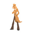 disguised detective character in brown coat vector image