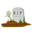 zombie hand rising from grave vector image