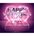 Modern Valentines day letter greeting background vector image vector image