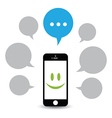 hello phone vector image vector image