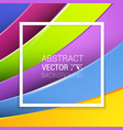 3d abstract lines full color background vector image